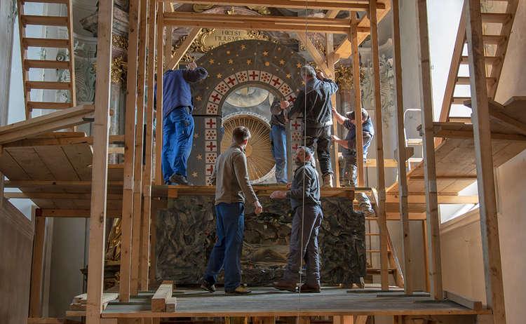 Aufbau Heiliges Grab Hoeglwoerth