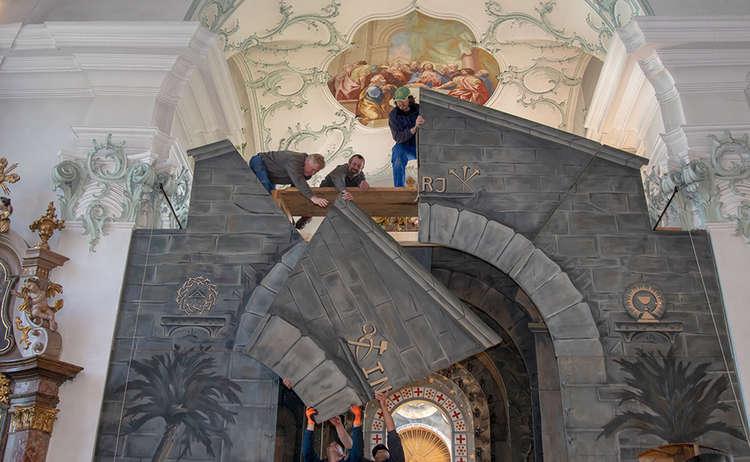 Aufbau Heiliges Grab